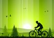 roleta: Mountain bike at sunset