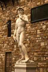 the david statue in Florence