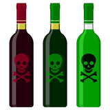 Wine bottles filled with poison poster