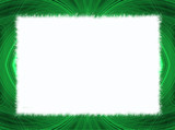 Green fringe fractal border with white copy space. poster