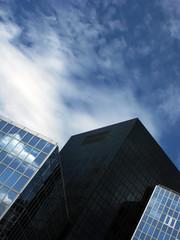 Composition urbaine dans un quartier d'affaires