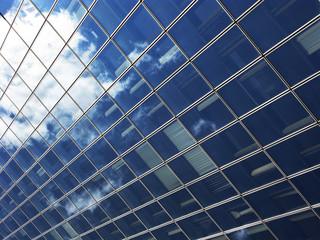 Perspective dans un immeuble de verre