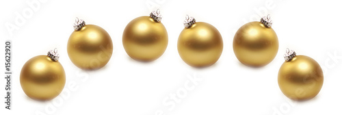 Christbaumkugeln in gold