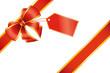 Emballage cadeau noeud rouge