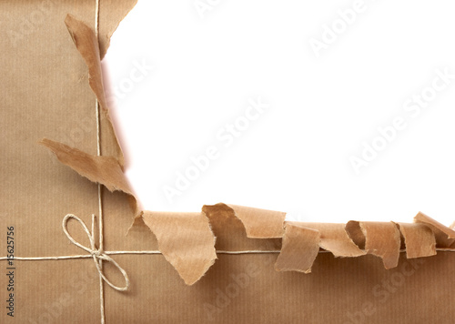 Leinwandbild Motiv box package wrap