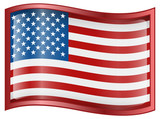 United States Flag Icon poster