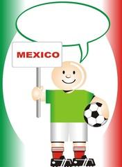 Postal de Aliento para la selección Mexicana de Futbol
