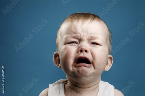 Leinwanddruck Bild Baby crying