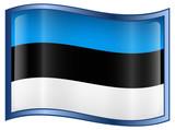 Estonia Flag Icon poster