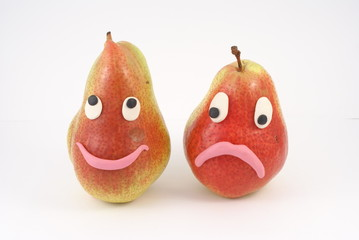 Two funny pears