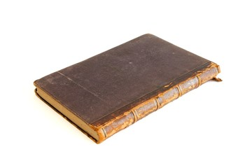 Antique book isolated on white background