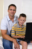Son and Dad Laptop