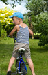 The boy with a bicycle