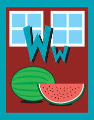 Flash Card Letter W nouns. See whole alphabet in my series!
