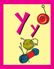Flash Card Letter Y nouns. There is one for each letter.