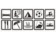 leisure pictograms set