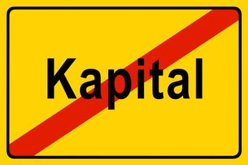 Symbolschild Kapital