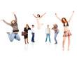 joy success isolated over white