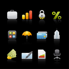 Icon Set in Black - Office and Business