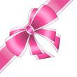 Emballage cadeau noeud rose