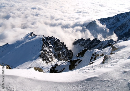 Mountain - Above the clouds