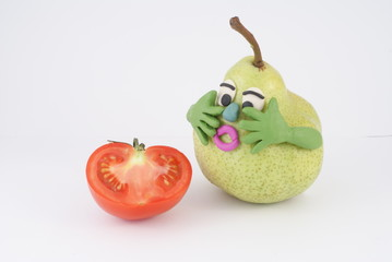 A pear is afraid