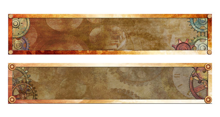 Steampunk Banners