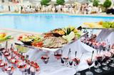 Fototapety buffet outdoor
