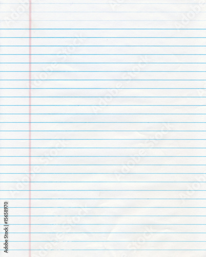canvas print picture Blue Lined Paper