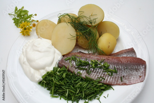 Swedish Midsummer food - prepared herring