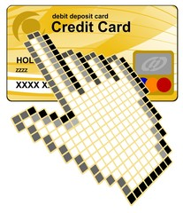 Click  credit card vector