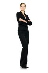 Selbstbewußte Geschäftsfrau