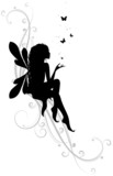 fairy in black