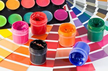 palette and paints