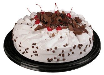 Chocolate chip cake. Clipping path