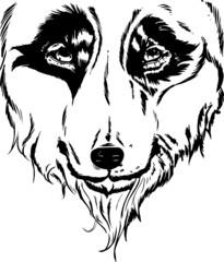 Wolf head portrait illustration