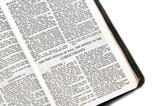 bible open to corinthians poster