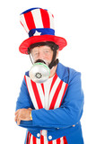 Uncle Sam in Gas Mask poster
