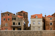 Old historic houses inside Dubrovnik city wall