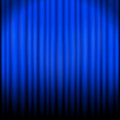 vorhang blau