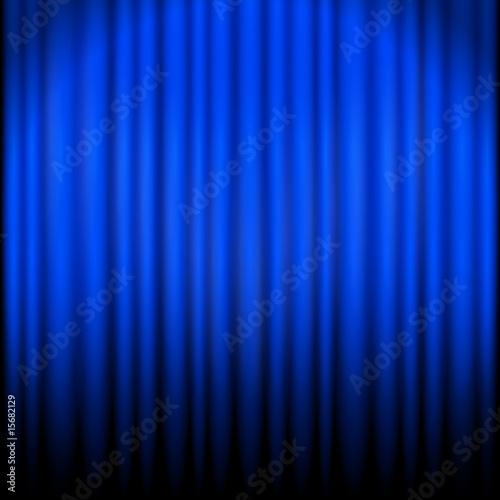 vorhang blau von wogi lizenzfreier vektor 15682129 auf. Black Bedroom Furniture Sets. Home Design Ideas