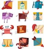 vector signs of zodiak