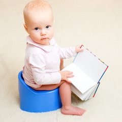 Infant on potty