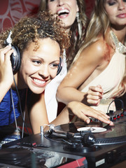 A DJ and her friends