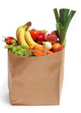 Bag full of healthy fruits and vegetables - 15695915