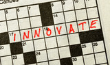 The Word INNOVATE on Crossword Puzzle poster