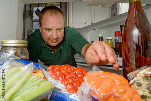 Man in Refrigerator