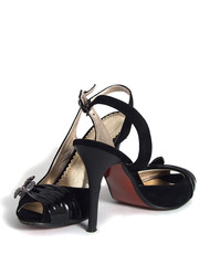Black women shoes with shadow