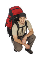 young backpacker