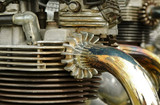 vintage motorcycle engine poster